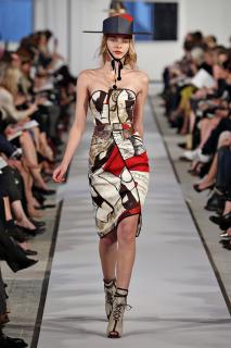 Oscar De La Renta Resort 2012 Silk Picasso Dress