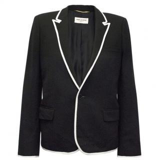 Saint Laurent Black and White Blazer