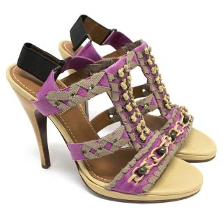 Lanvin Pink Knotted Sandals
