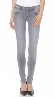 Anine Bing light grey skinny jeans