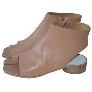 Maison Margiela Beige Leather Tabi Shoes