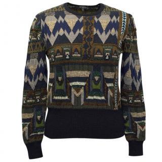 Etro Khaki Green Embellished Sweater