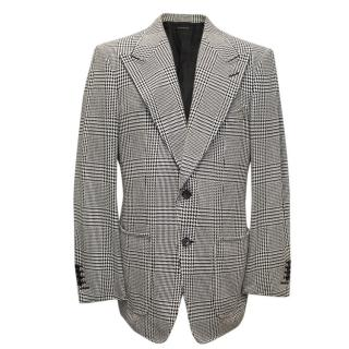 Tom Ford Black and White Checkered Blazer