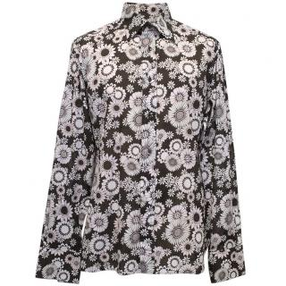 Tom Ford Brown Floral Print Shirt