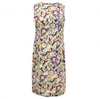 Carolina Herrera Archive Print Collection Multicolour Dress