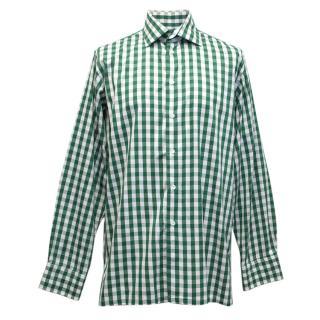Richard James Green and White Checkered Shirt