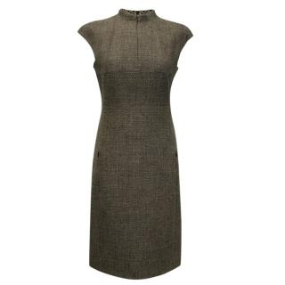 AKRIS  Cashmere and Wool Sleeveless Dress With Zip Up Front