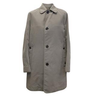 Burberry Grey Cotton Gabardine Car Coat