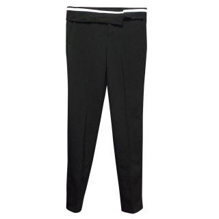 A.L.C. Black Jude Contrast Waist Tuxedo Trousers