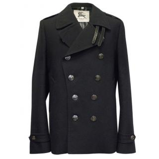 Burberry Black Double Breasted Coat