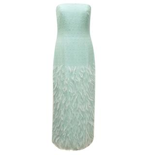 Bellville Sassoon Lorcan Mullany Acqua Blue Strapless Gown