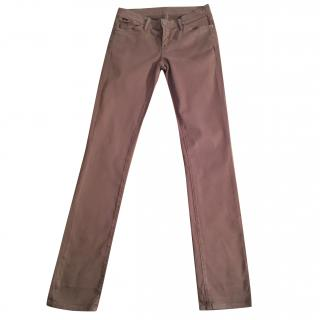 GOLDSIGN 'Misfit' khaki brown slim fit jeans