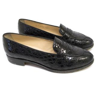 Tanino Crisci Black Patent Leather Loafers