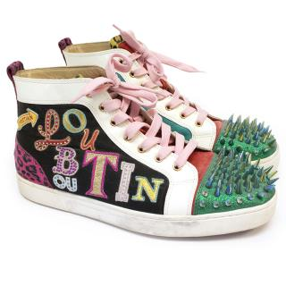 Christian Louboutin Multi Colour Spike Hi-Tops