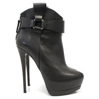 Giuseppe Zanotti Black High boots With Strap Detail