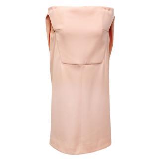 Balenciaga Pink Off Shoulder Shift Dress