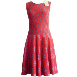 Issa Stretch Jacquard- Knit Dress