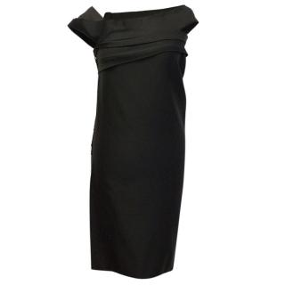 Lanvin Black Dress with Embellishments