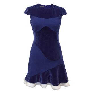 Alexander McQueen Electric Blue Dress