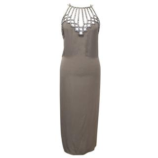 Chloe Crystal Taupe Dress