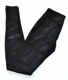 Maison Martin Margiela black leather trousers