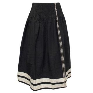 Heart Haat Black Skirt with White Stripes