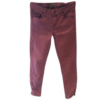 Mother denim burgundy jeans
