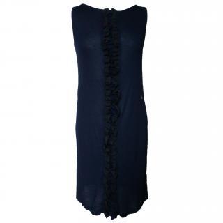 Galliano  fine knit ruffled dress