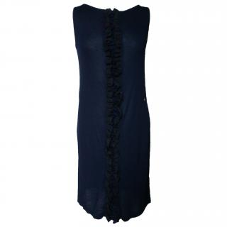 Galliano  fine knit ruffled dress