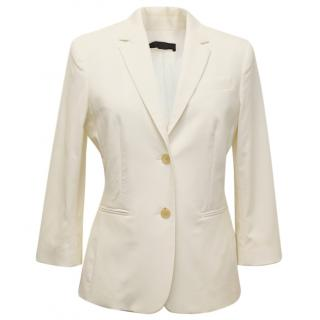 The Row Cream 'School Boy' Blazer