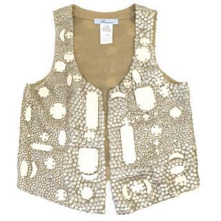 Blumarine Silk Embellished Vest