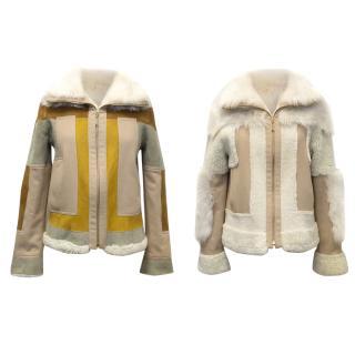 Chloe Wool and Lambskin Reversible Jacket