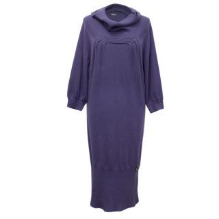 Galliano Purple Knitted Dress
