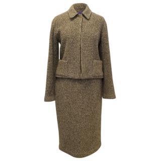 Ralph Lauren Brown Skirt And Jacket 2 Piece