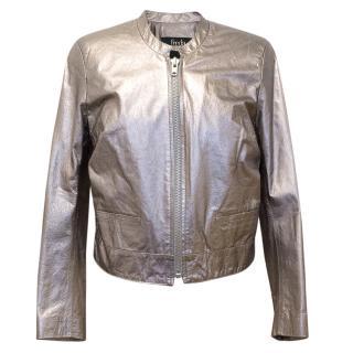 Freda Metallic Leather Jacket