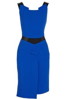 ROLAND MOURET Blue Origami Dress