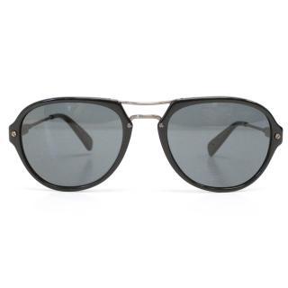 Lanvin Black Aviator Style Sunglasses