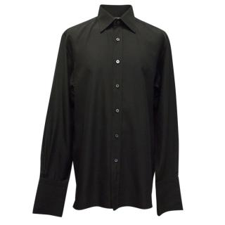 Tom Ford Black Double Cuffed Dress Shirt with Cufflinks