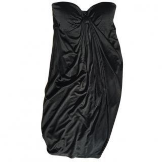 Catherine Malandrino Black Strapless Jersey Dress