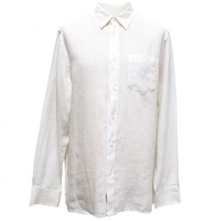 120% Lino White Linen Shirt
