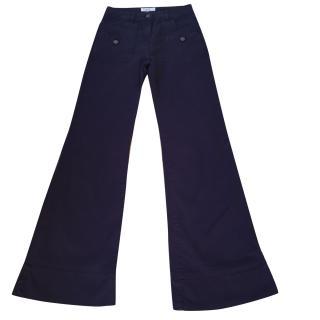 See By Chloe Dark Indigo Blue Flared Stretch Jeans