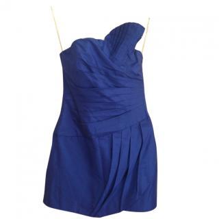 Catherine Malandrino Navy Blue Strapless Cocktail Dress