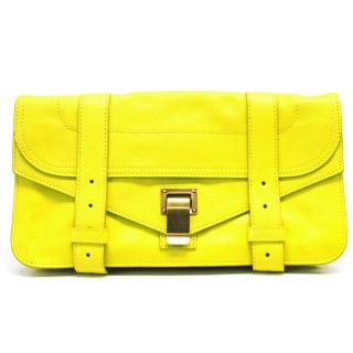 Proenza Schouler Neon Yellow PS1 Leather Pochette