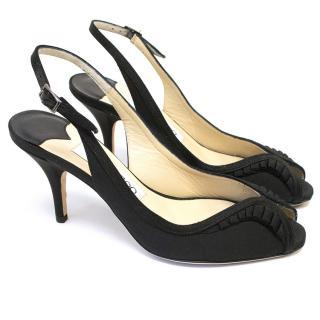 Jimmy Choo Black Isabel Kitten Heels