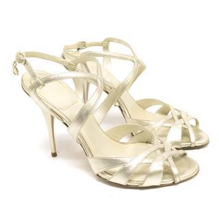 Dior Silver Strappy Sandals