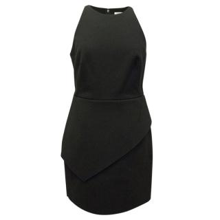 Halston Heritage Black Structured Dress With Cut Out Back