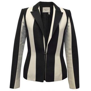 Lanvin Black and Cream Striped Blazer