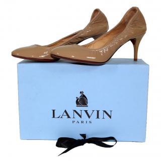 Lanvin Patent Leather Beige Shoes