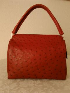Prada  Red Ostrich  leather Handbag