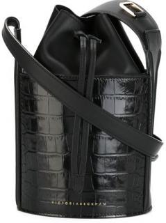 Victoria Beckham Mini crocodile effect bucket bag